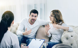 a couple undergoes marital issues therapy