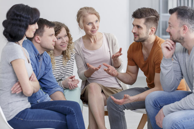 Man asks his therapy group what is IOP?